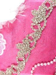 XR243 Rhinestone Trim Crystal Silver  Elegant Tiara