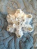"XR284 Sequin Applique Crystal Rhinestone Snowflake 1.5"""
