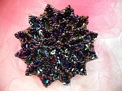 """Black AB Sequin Applique Floral Beaded Iron on Patch 3"""" (XR364)"""