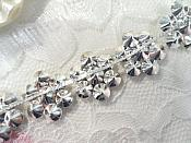 "Floral Trim Glass Crystal Rhinestone Silver Setting 7/8"" (XR372)"