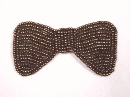 HB15  Bronze Beaded Hair bow