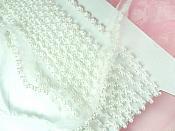 Petite White Pearl Beaded Bridal Veil Sewing Trim FS012