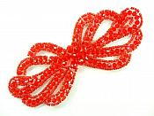 "Applique Patch Glass Beaded Red Costume Sewing Motif 5"" JB213"
