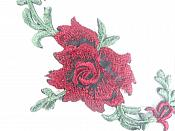 "Floral Embroidered Applique Burgundy Wine Dance Costume Craft Patch 4.75"" GB700"
