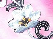 """Gray Embroidered Appliques Floral Mirror Pairs 3.75"""" GB696X"""