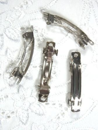 D01 Set of (4 ) French Clip Hair Barrettes 1.5""