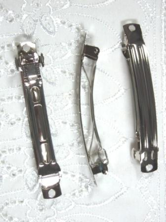 D02  Set of (3 ) French Clip Hair Barrettes 3.25""