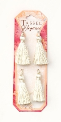 E5970  Set of (4 )   Ivory Mini Tassels 2""
