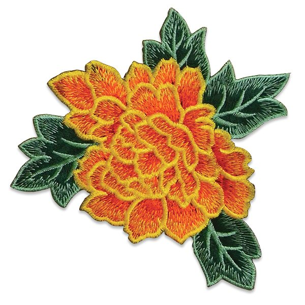 """Yellow Rose Embroidered Applique Iron On Patch 6.5"""" ESA6416"""