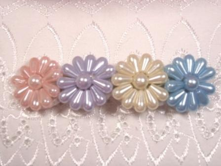 HB7  Pearl Beaded Hair bow
