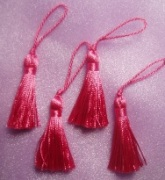 """E5970  Set of ( 4 )  Fuchsia Mini Tassels 2"""""""