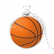 Basketball Sports Pendant Necklace Fashion Costume Jewelry with Silver Chain JW345