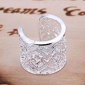 Ring 925 Stamped Sterling Silver Plated Style Jewelry (JW35)