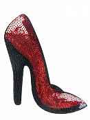 "High Heeled Shoe Applique Sequin Red Iron On Patch 5.5"" GB702-sl"