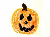 """LC1838 Happy Pumpkin Sequin Applique Sewing Crafts Costume Patch 5"""""""