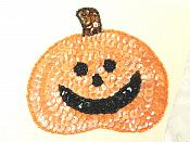 """LC1839 Happy Pumpkin Sequin Applique Sewing Crafts Costume Patch 4"""""""
