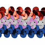 "Patriotic Trim USA Americana Metallic Sequin Stretch Sewing Banding 1.25"" (6809)"