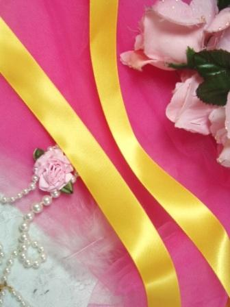 R1  Yellow Gold Satin Craft Ribbon 7/8""