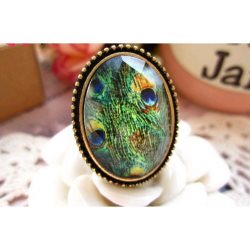 GB38 Peacock Vintage Retro Fashion Ring