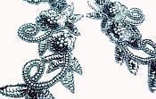 Gunmetal Mirror Pair Sequin Beaded Appliques 0183X