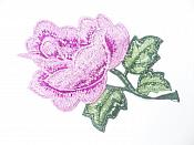 "Floral Embroidered Applique Lavender Dance Costume Craft Patch 4.5"" GB701"