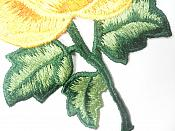 "Floral Embroidered Applique Yellow Orange Dance Costume Craft Patch 4.5"" GB701"