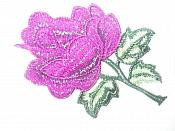 "Floral Embroidered Applique Puprle Dance Costume Craft Patch 4.5"" GB701"