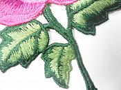 """Floral Embroidered Applique Fuschia Dance Costume Craft Patch 4.5"""" GB701"""