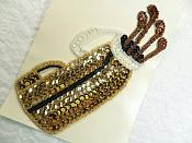 """Self Adhesive Golf Sequin Applique Beaded Patch Motif Sewing Crafts Supplies 6.25"""" (LC1870)"""
