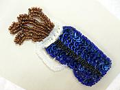 "Self Adhesive Golf Sequin Applique Beaded Patch Motif Sewing Crafts Supplies 3.5"" (LC1868)"