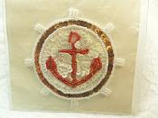 """Self Adhesive Nautical Sequin Applique Beaded Patch Motif Sewing Crafts Supplies 3.5"""" (LC1711)"""