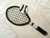 """Self Adhesive Tennis Sequin Applique Beaded Patch Motif Sewing Crafts Supplies 5.5"""" (LC1871)"""
