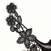 """Bodice Applique Embroidered Yoke Collar Neckline Lace Motif Black 13"""" (Y9)"""